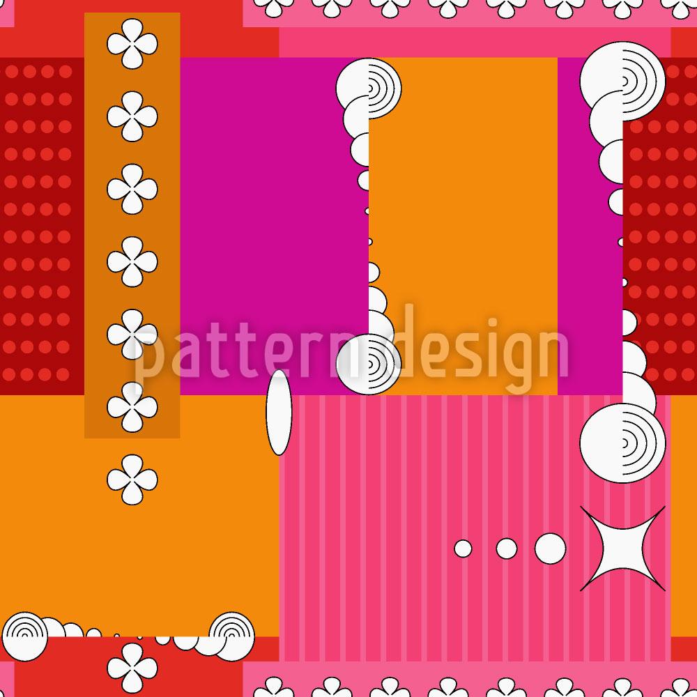 Designtapete Patchwork Abstrakt