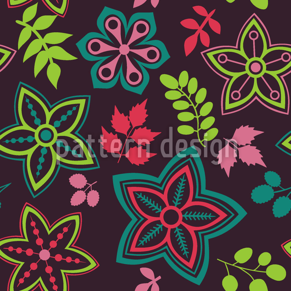 Designtapete Hinreissender Blumen Mix