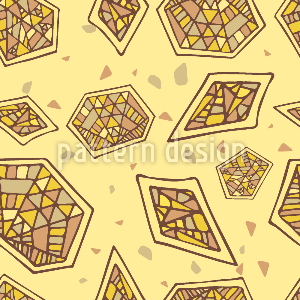 Designtapete Abstraktes Mosaik