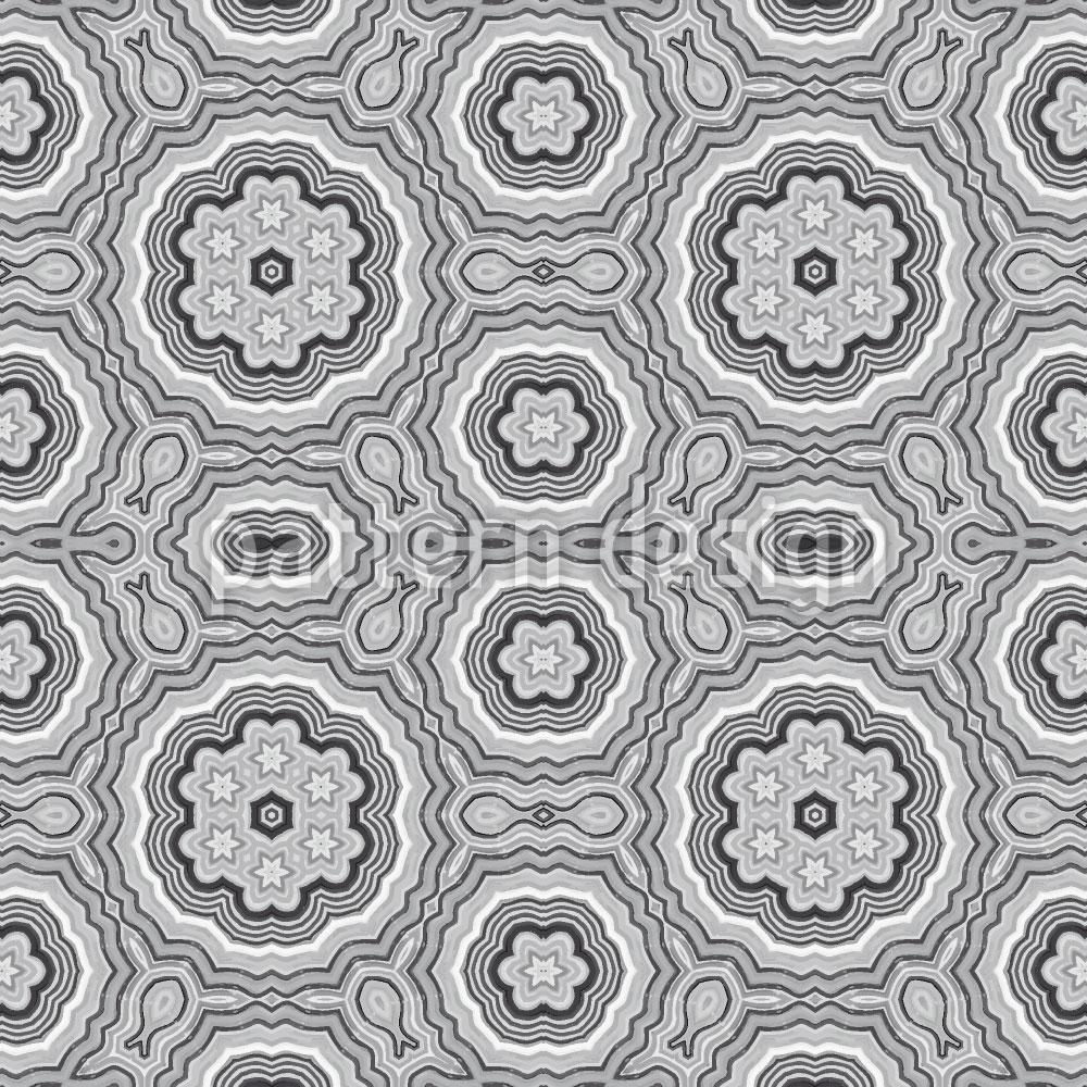 Designtapete Kaleidoskop Monochrom
