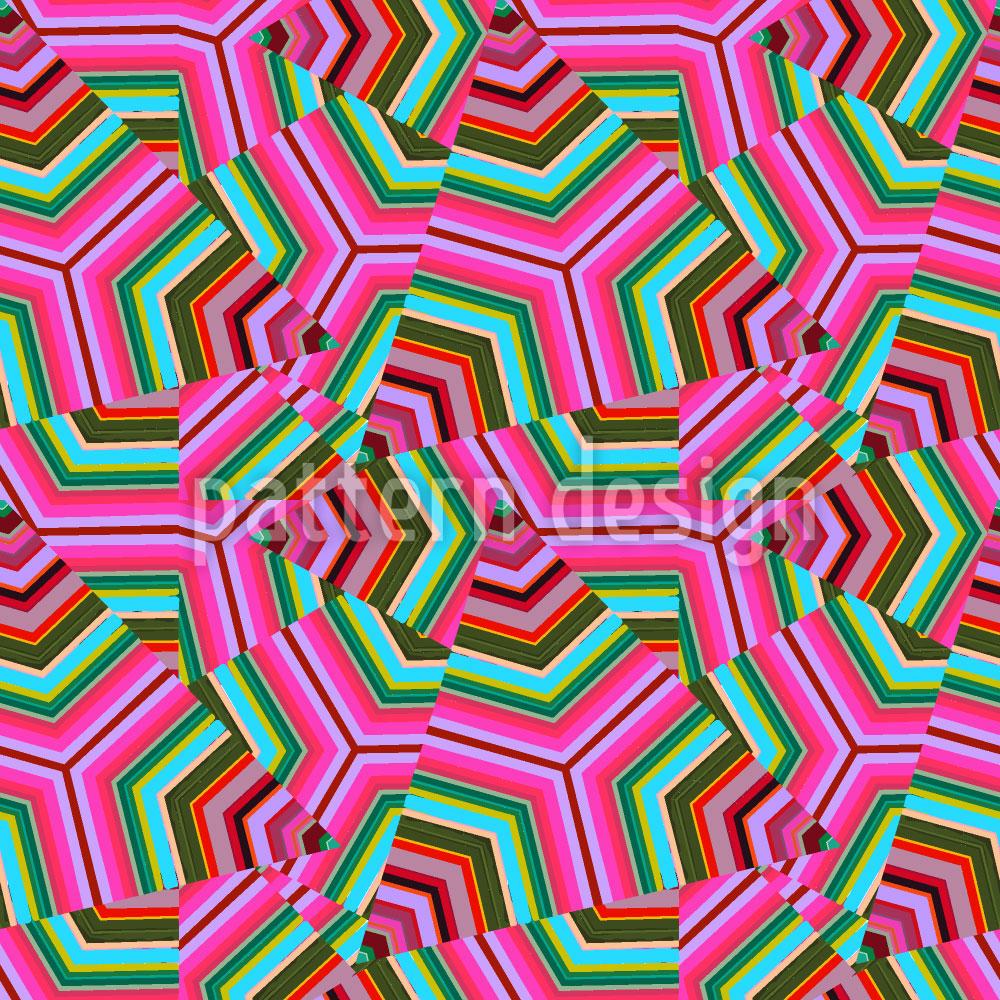 Designtapete Pop Art Dreiecke