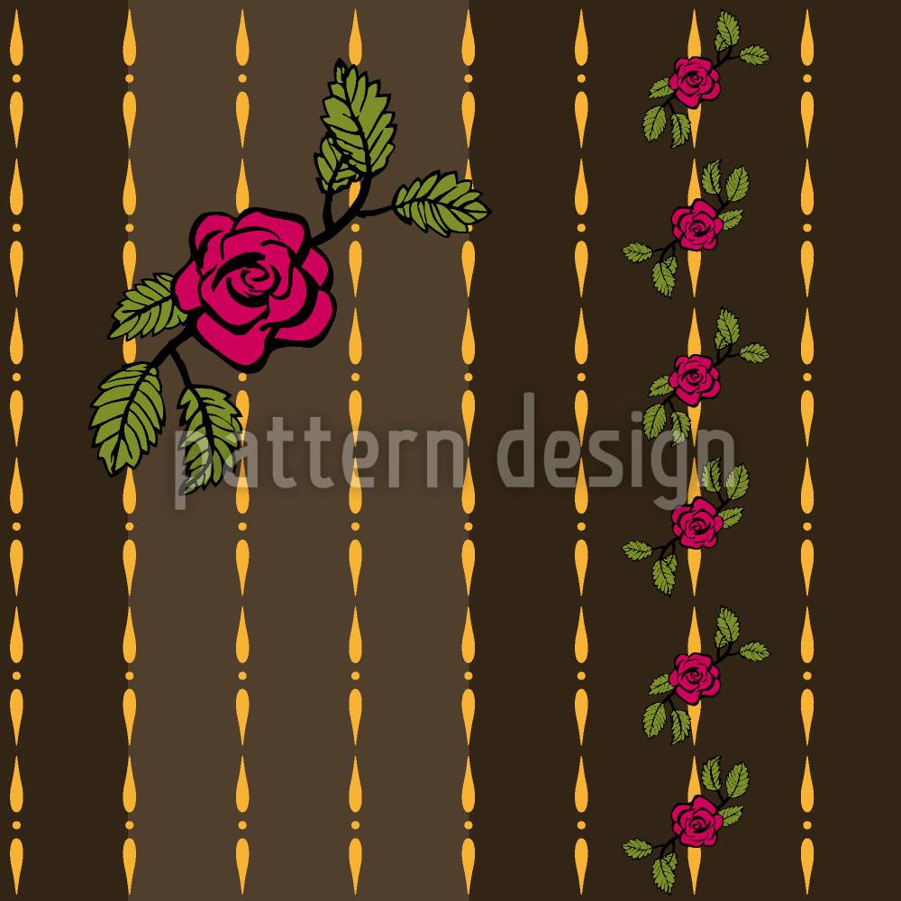 Designtapete Chain Of Roses