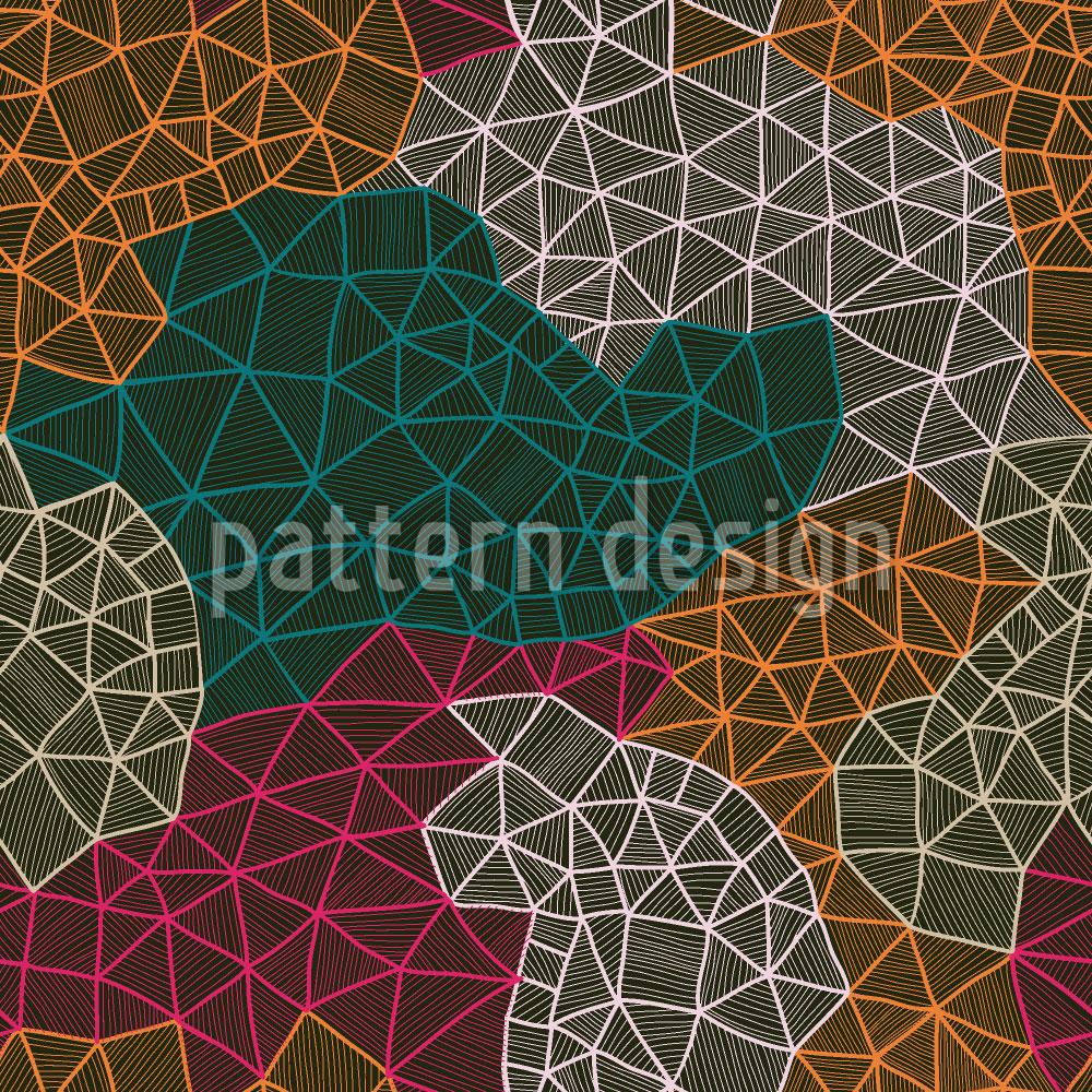 Designtapete Das Netzwerk Des Kartographen