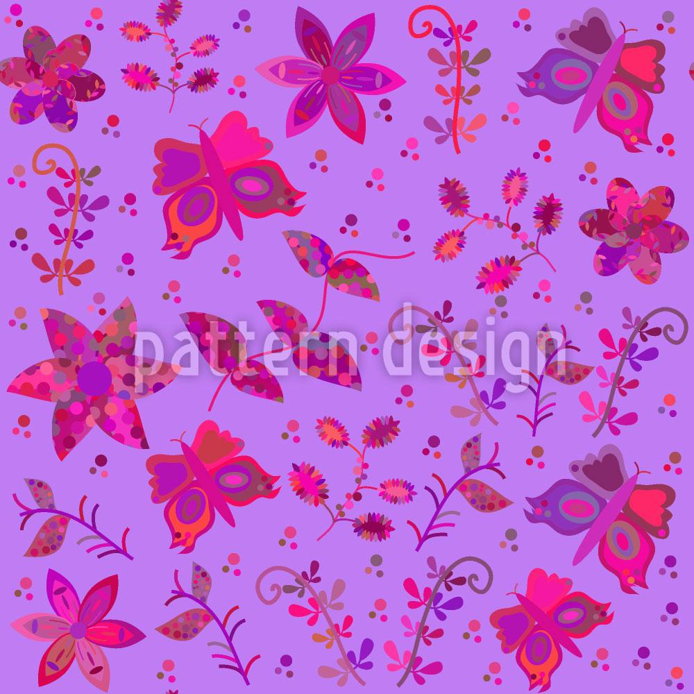 Designtapete Schmetterlinge Im Patchwork Park