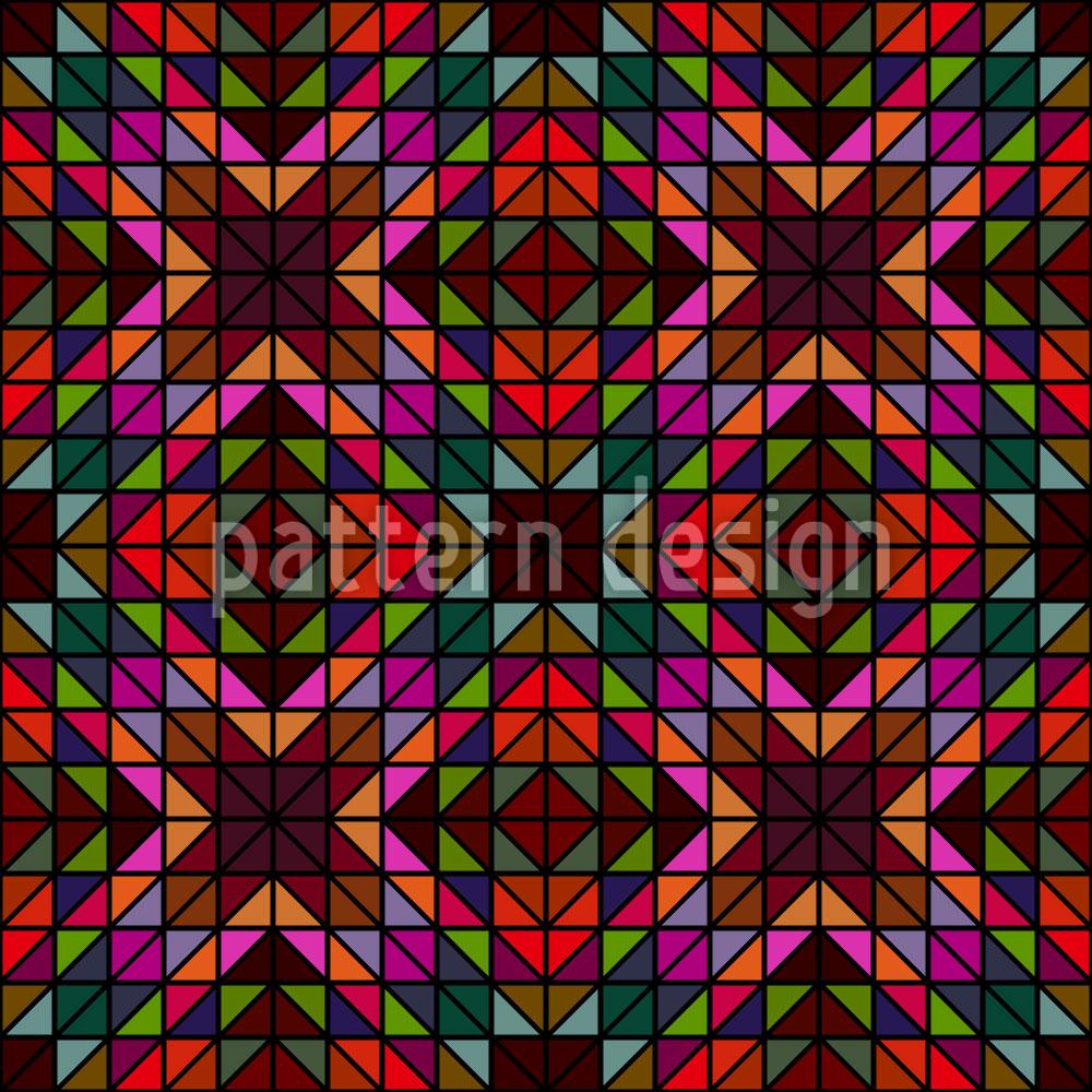 Designtapete Fensterglas Mosaik