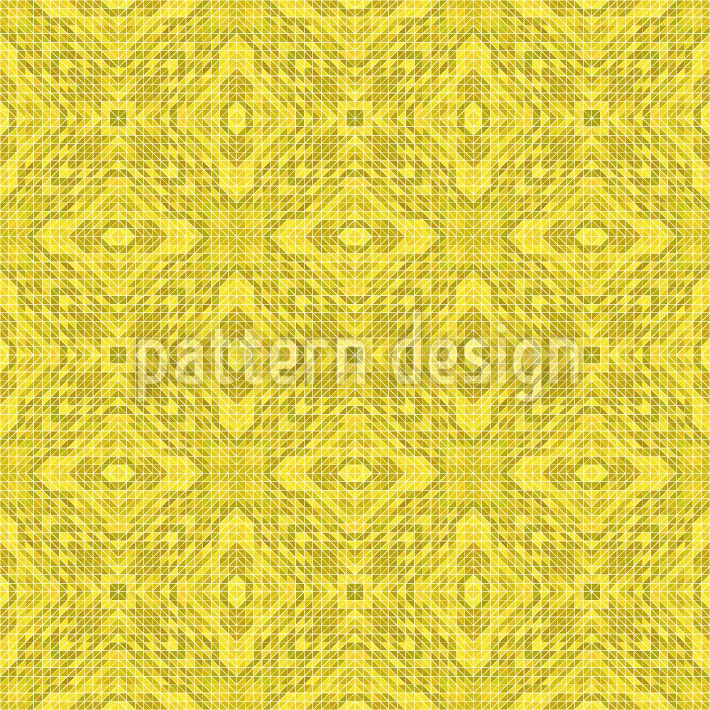 Designtapete Zitronen Geometrie