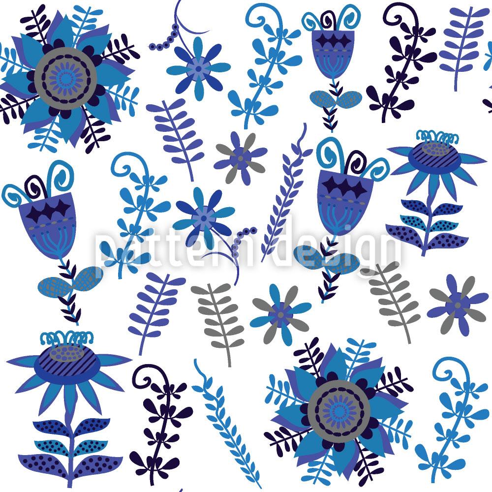 Designtapete Flora Folklore