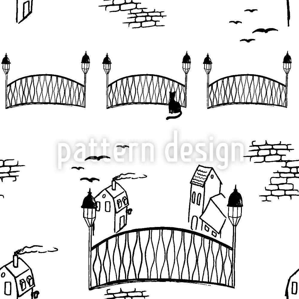Designtapete Kätzchenbrücke Weiss