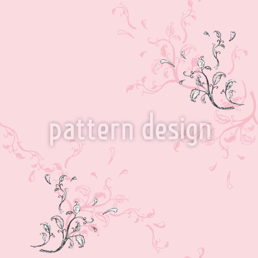 Designtapete Blumenzauber In Rosa