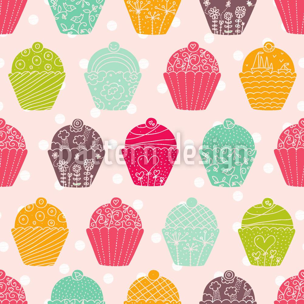 Designtapete NY Cupcakes