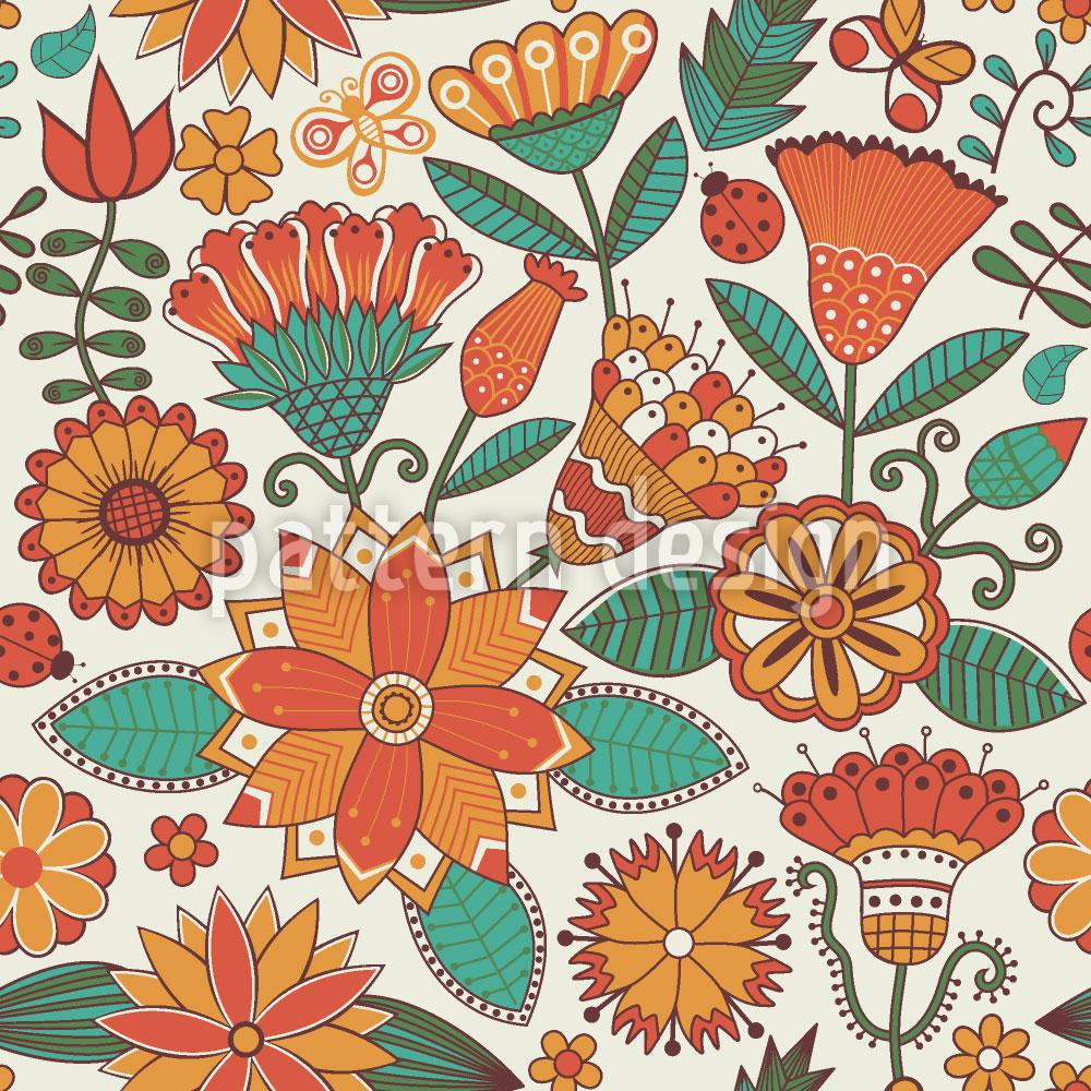 Designtapete Zauberhafter Blumenherbst