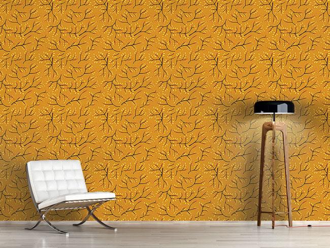 Designtapete Japanisches Herbstgold