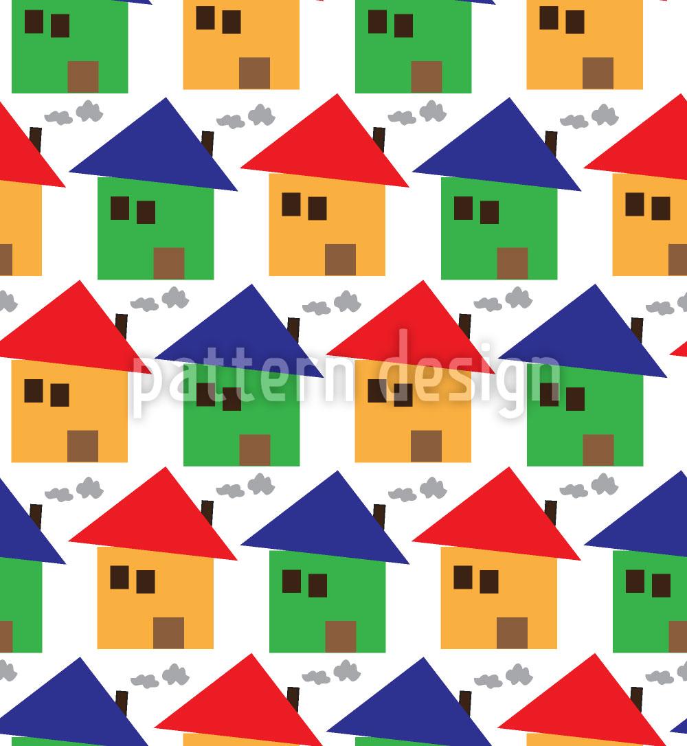 Designtapete Freundliche Häuser