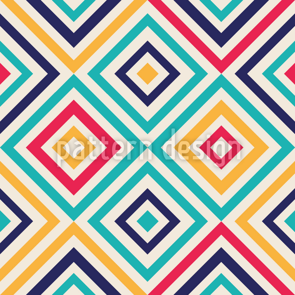 Designtapete Geometrie Zum Quadrat