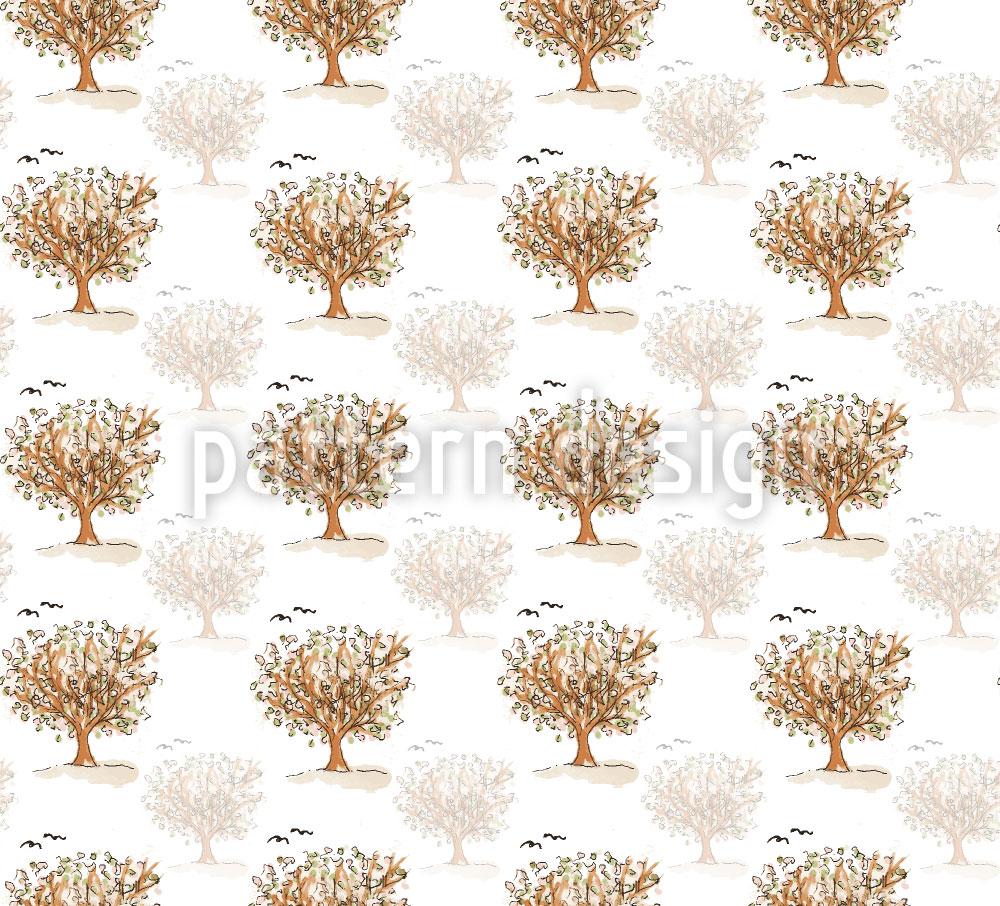 Designtapete Was Die Bäume Den Vögel Zuflüstern