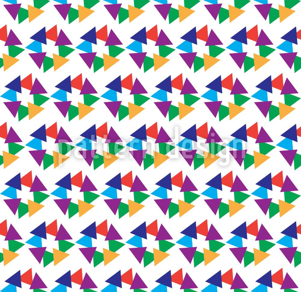 Designtapete Dreieck Vereinigung
