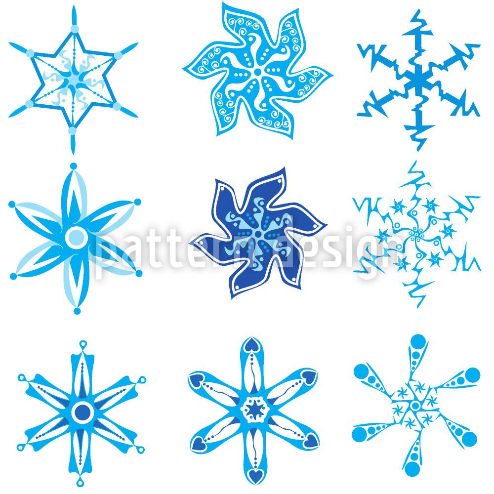 Designtapete Schneeflocken Sammlung