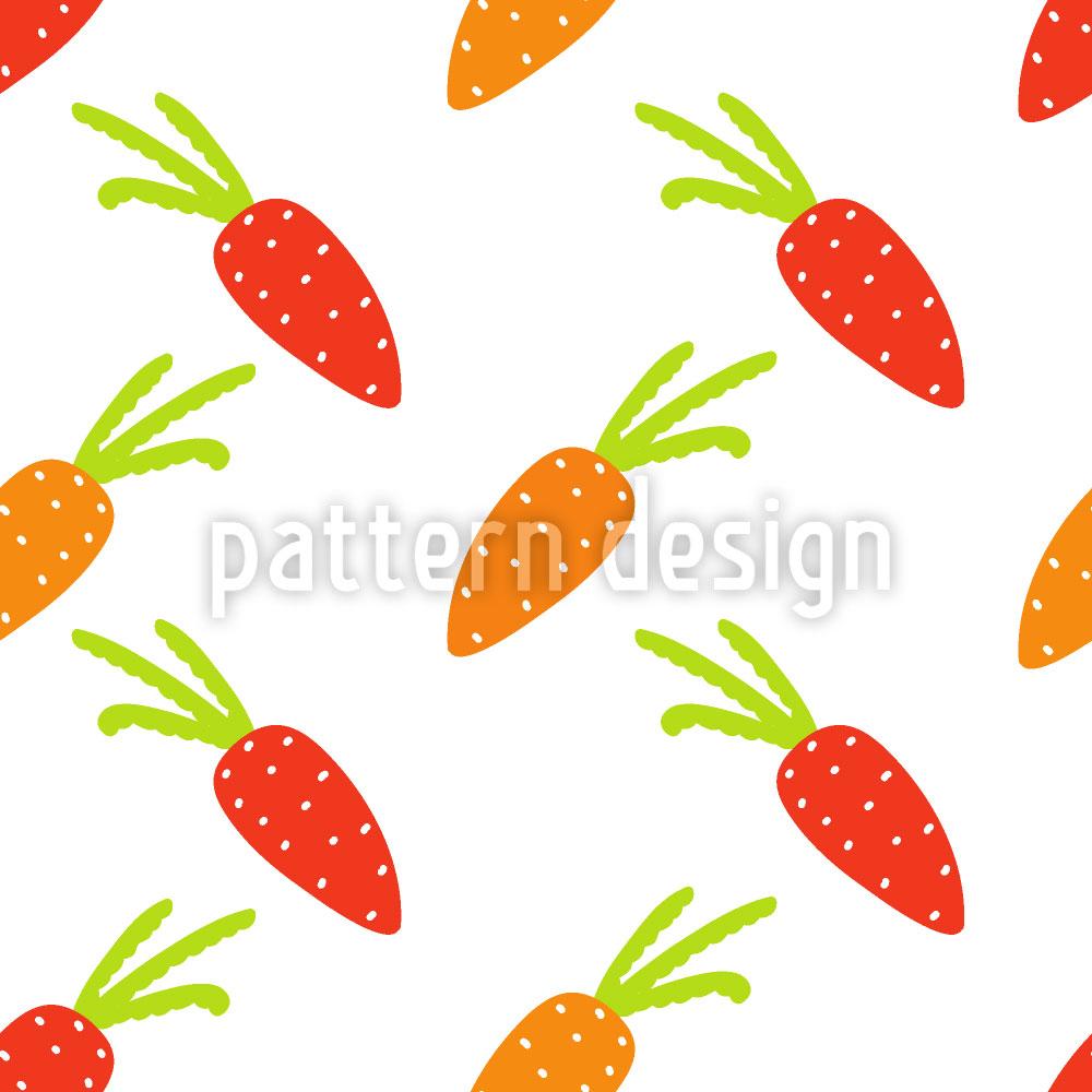 Designtapete Karotten