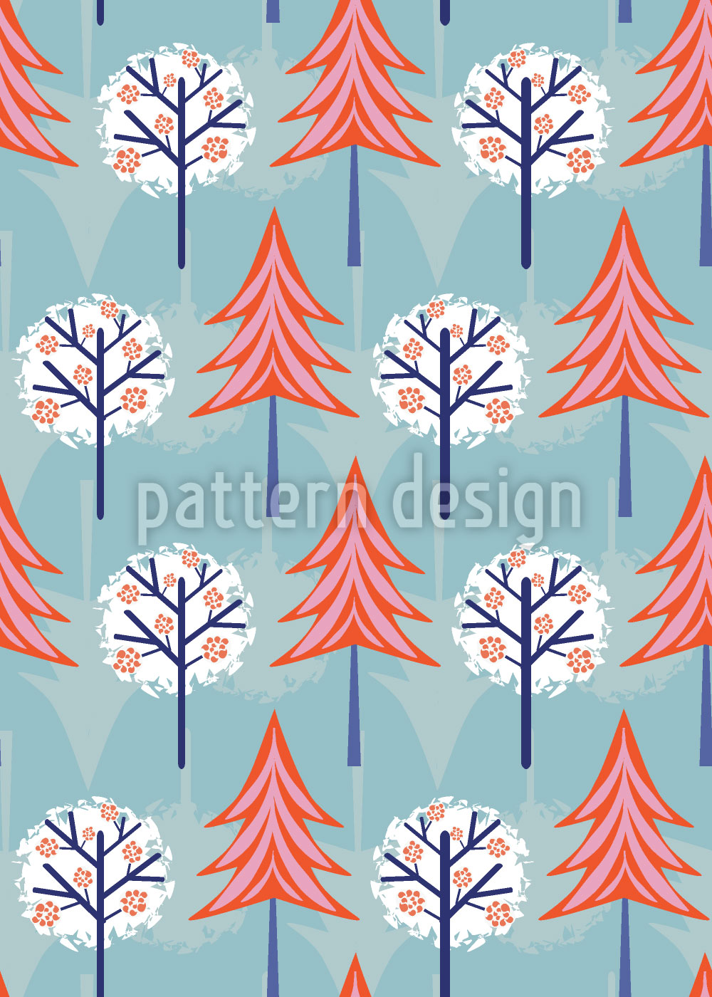 Designtapete Snow Trees