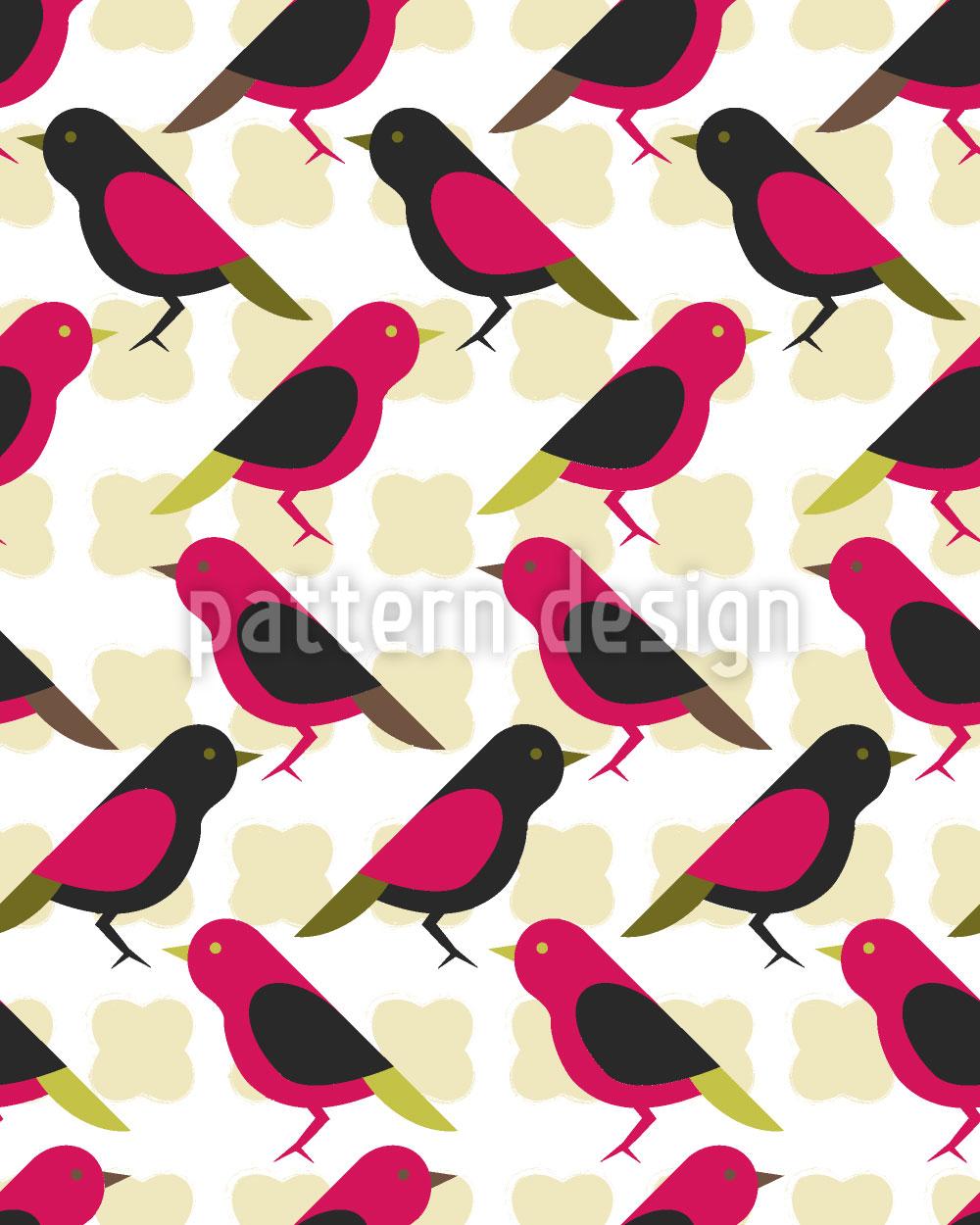 Designtapete Kanarienvögel