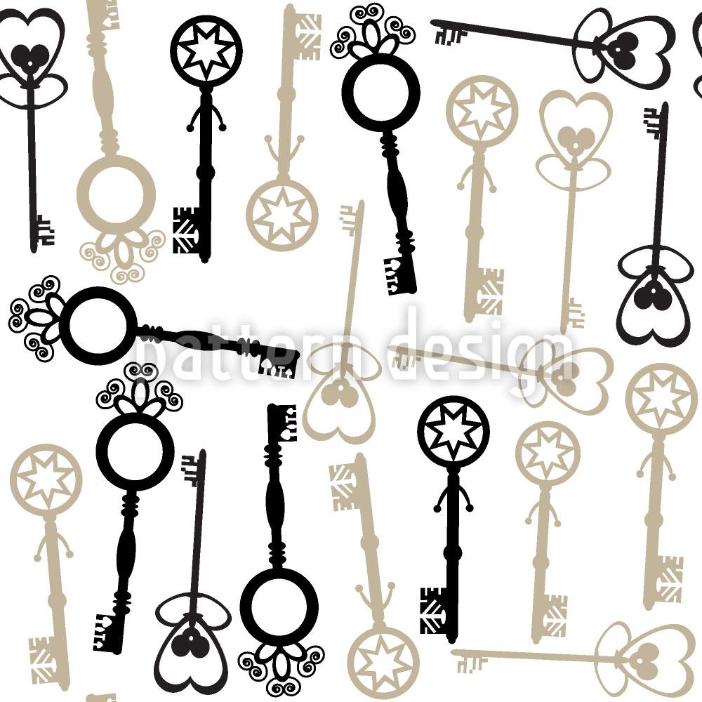 Designtapete Schlüssel Zu Meinem Herzen