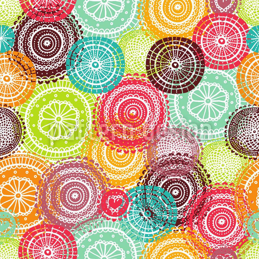 Designtapete Sommer Deckchen