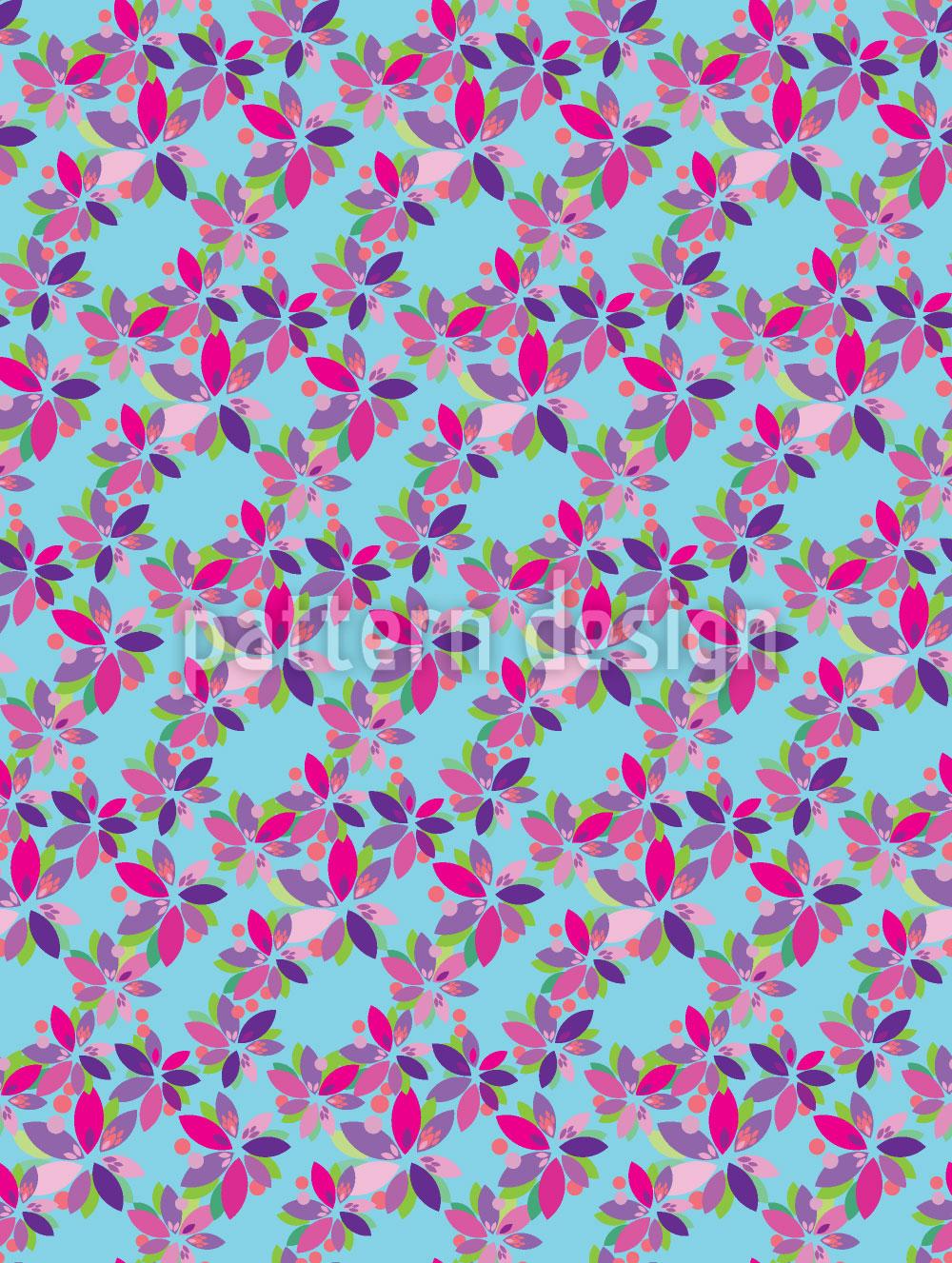 Designtapete Kleine Blüten Fantasie