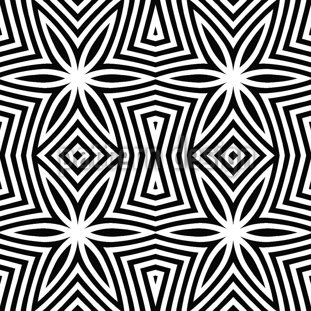 Designtapete Zebra Sterne