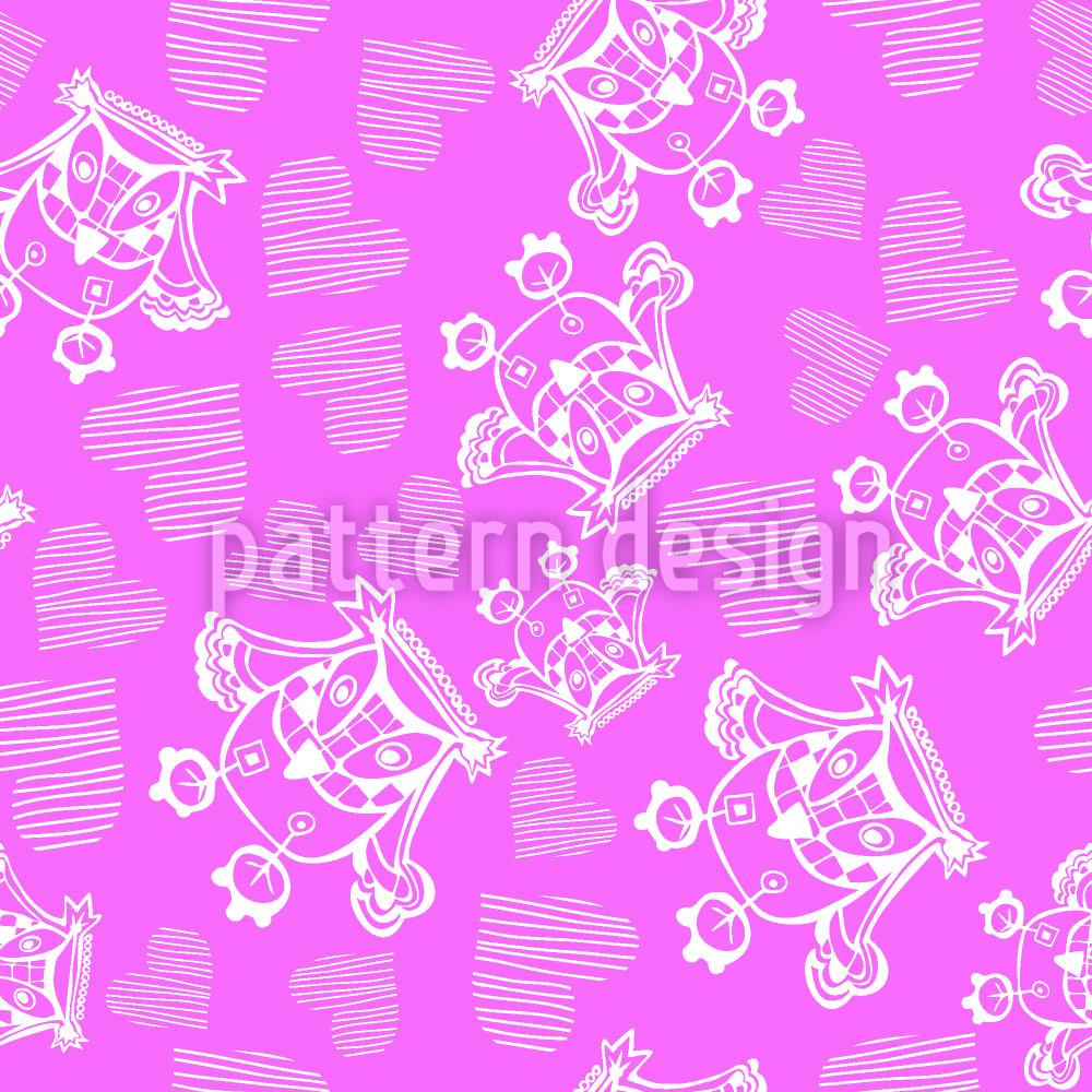 Designtapete Owl You Need Is Love Love Love