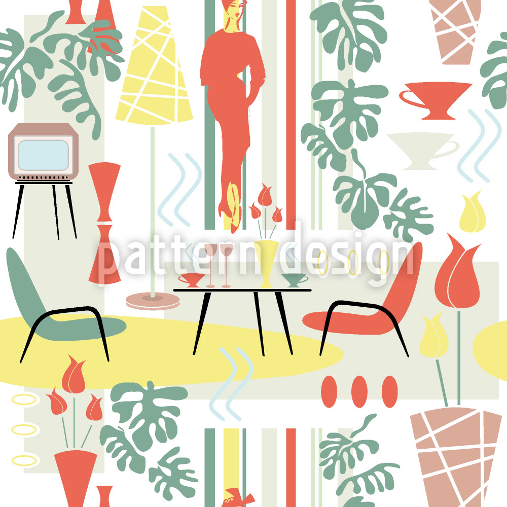 Designtapete Fifties