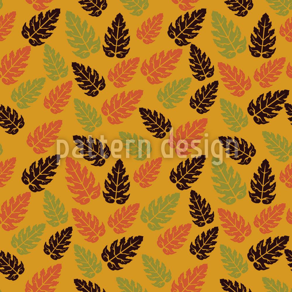 Designtapete Herbstblatt Überall