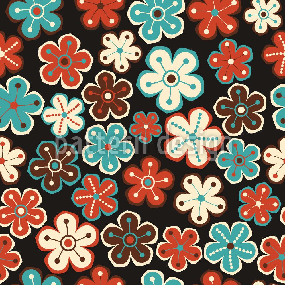 Designtapete Herbst Trifft Winterblume