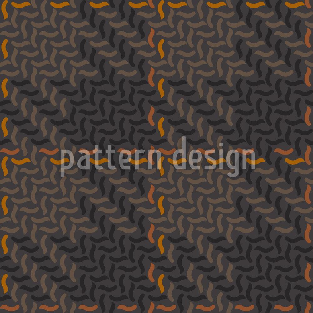 Designtapete Herbst Karo Patchwork
