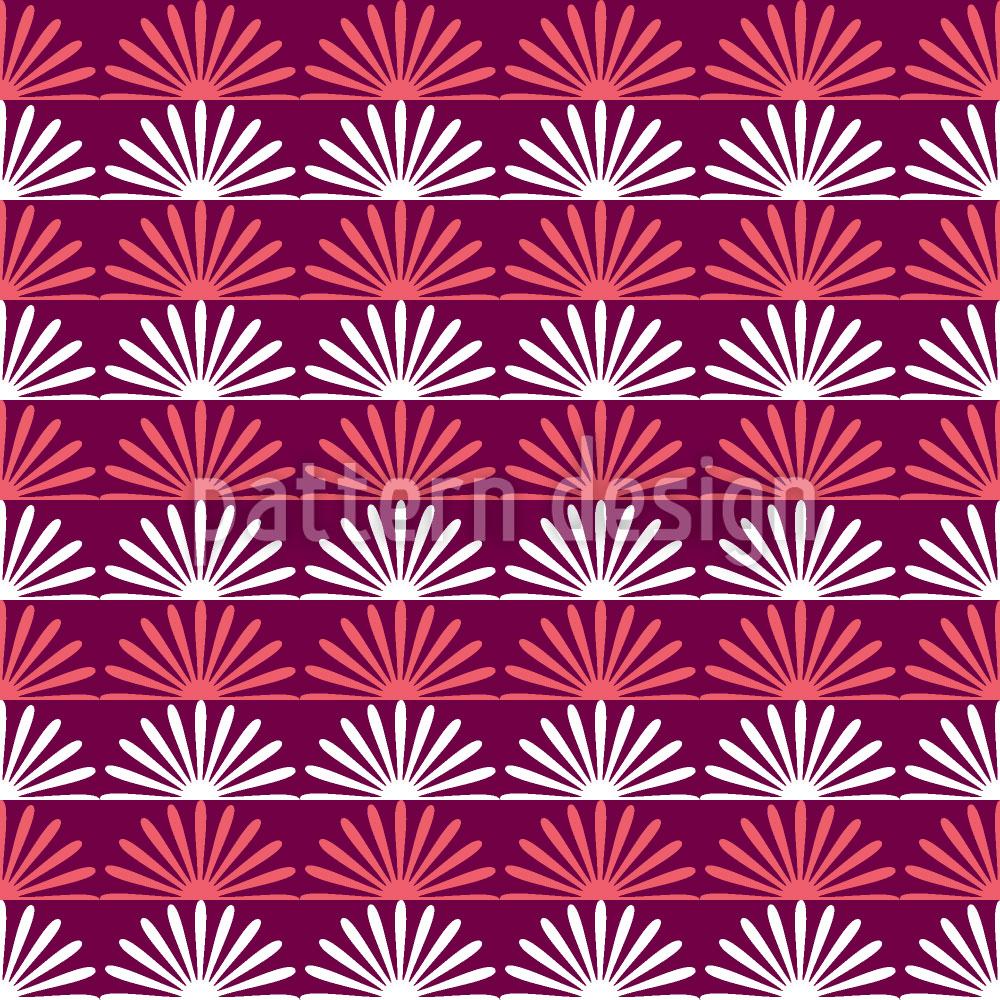 Designtapete Floraler Sonnenaufgang Auf Streif