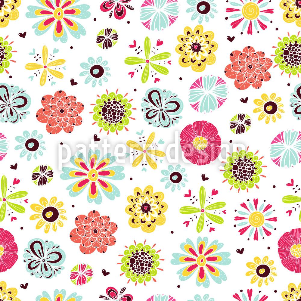 Designtapete Blumen Leuchten Im Sommer