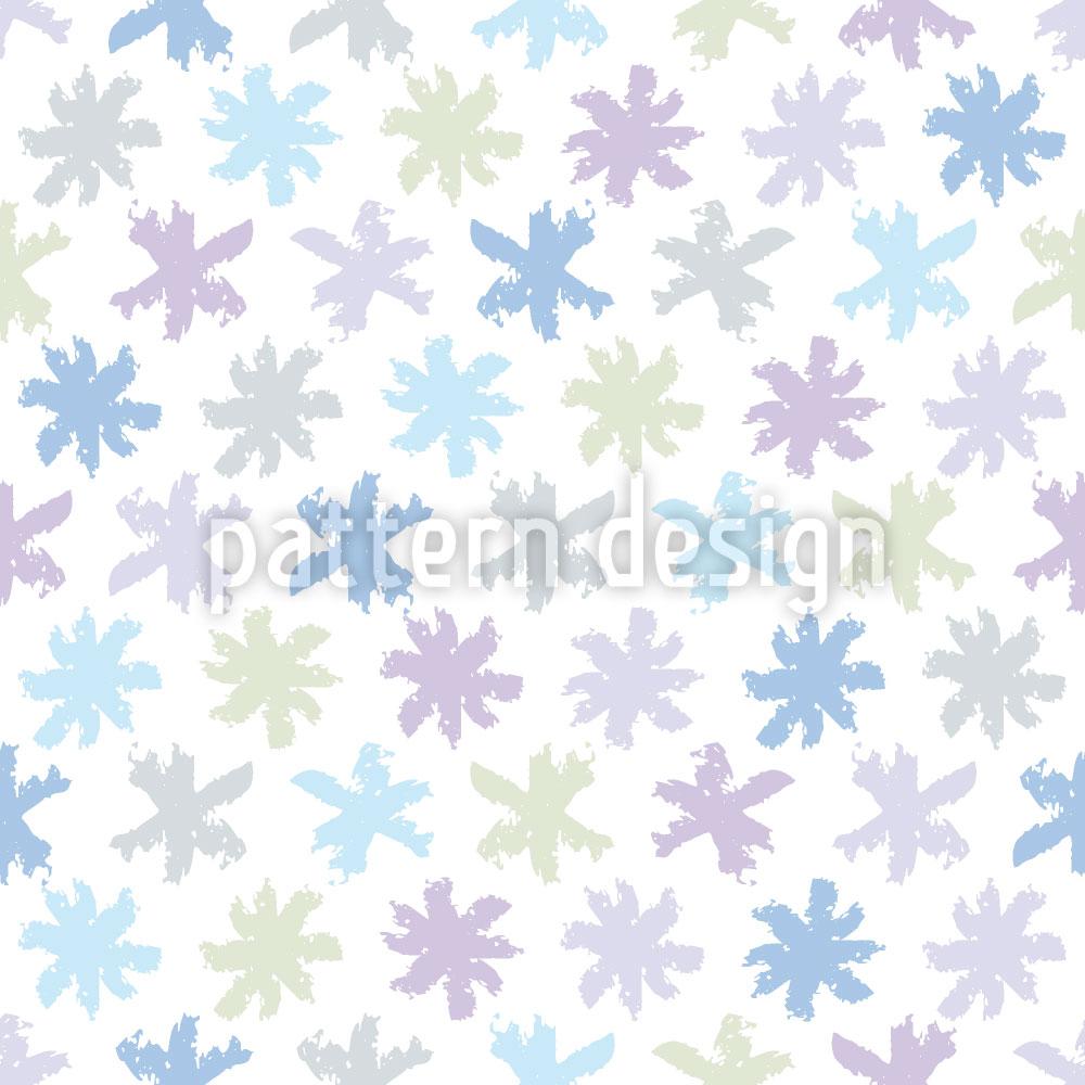 Designtapete Schnee Sternchen