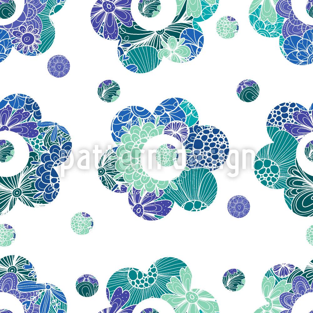 Designtapete Blumen Schablone
