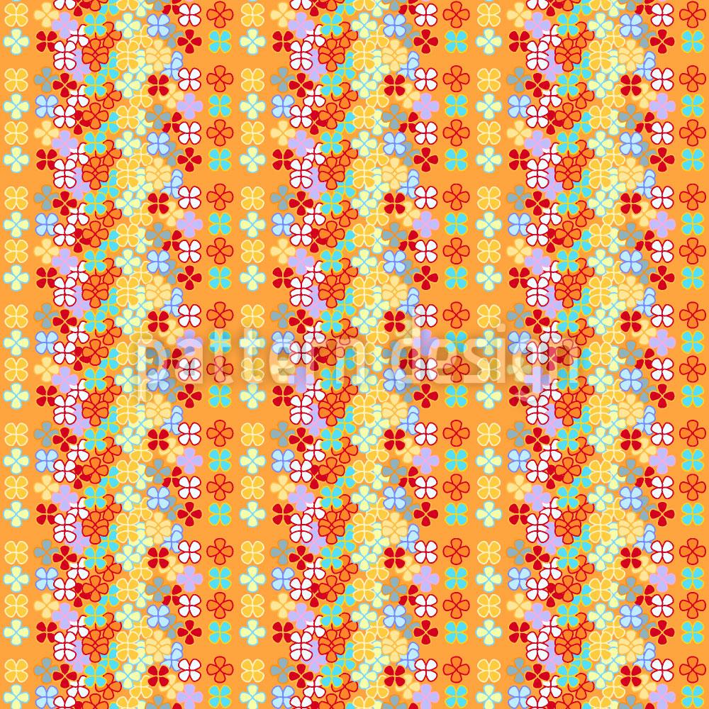 Designtapete Blumen Streifen