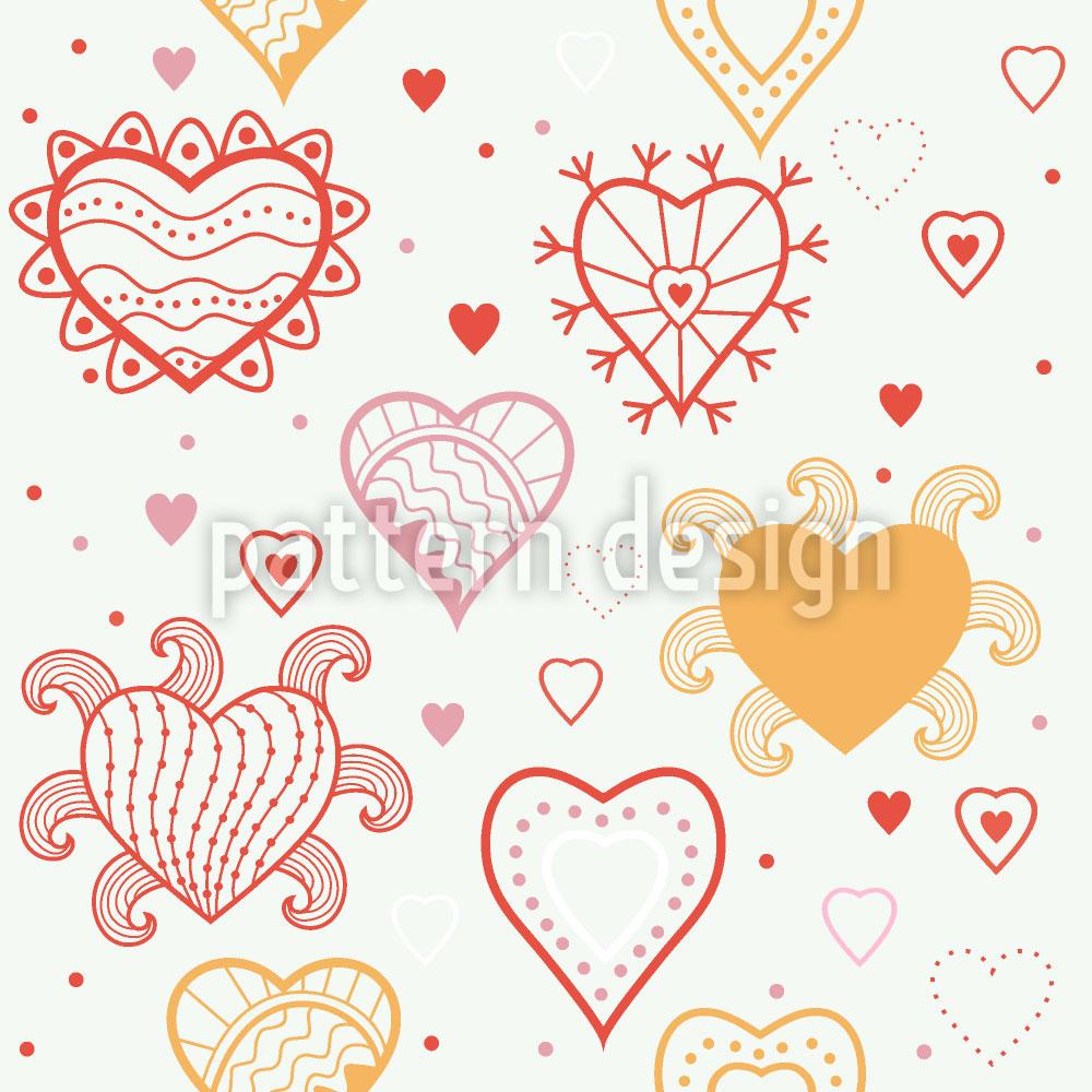 Designtapete Herz Fantasie