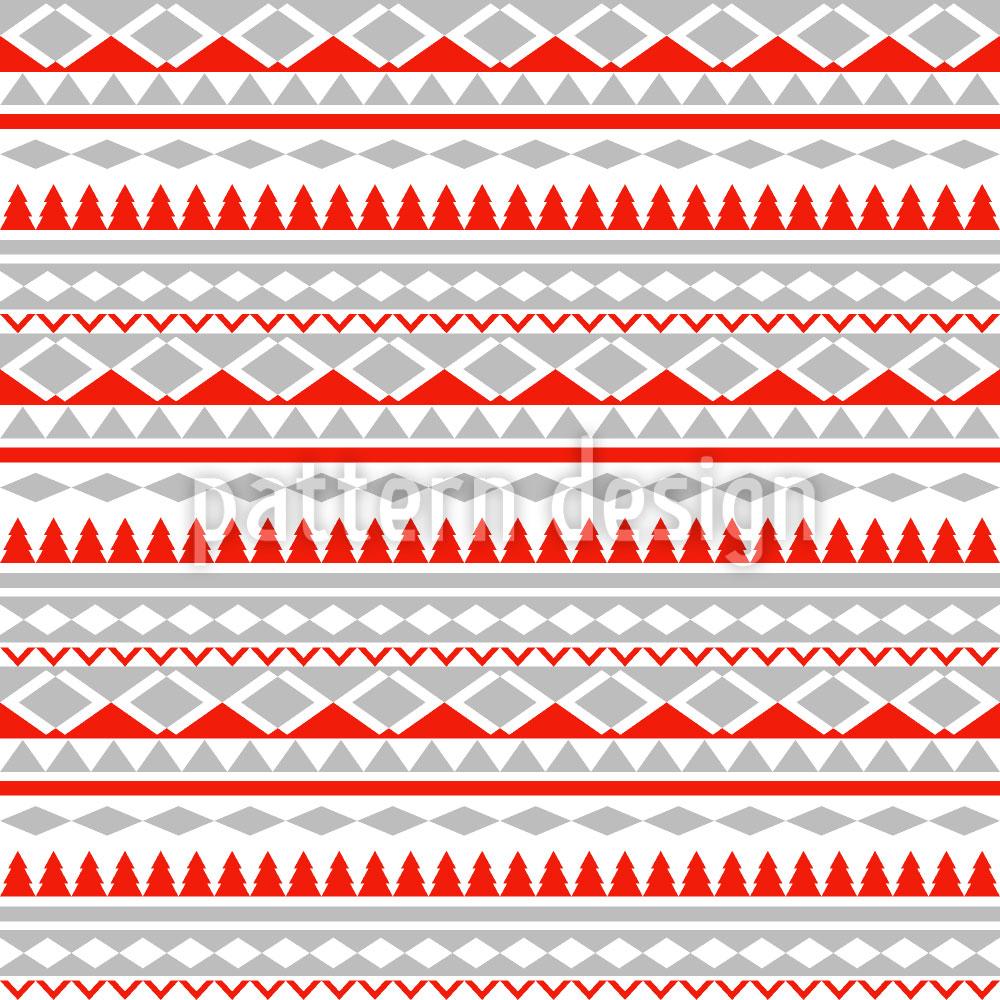 Designtapete Weihnachtsgeometrie