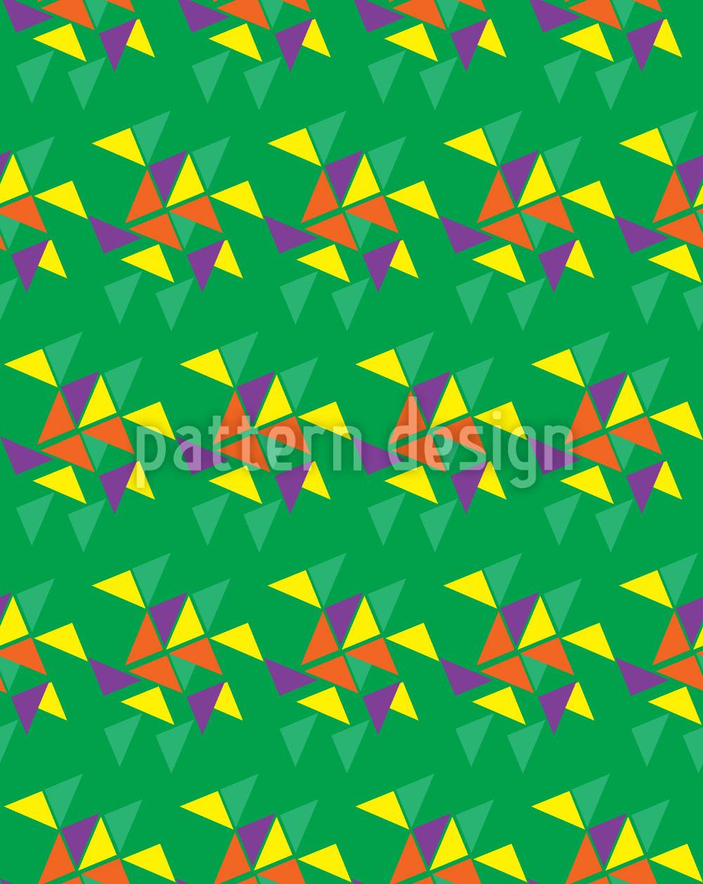 Designtapete Wettlauf Der Dreiecke