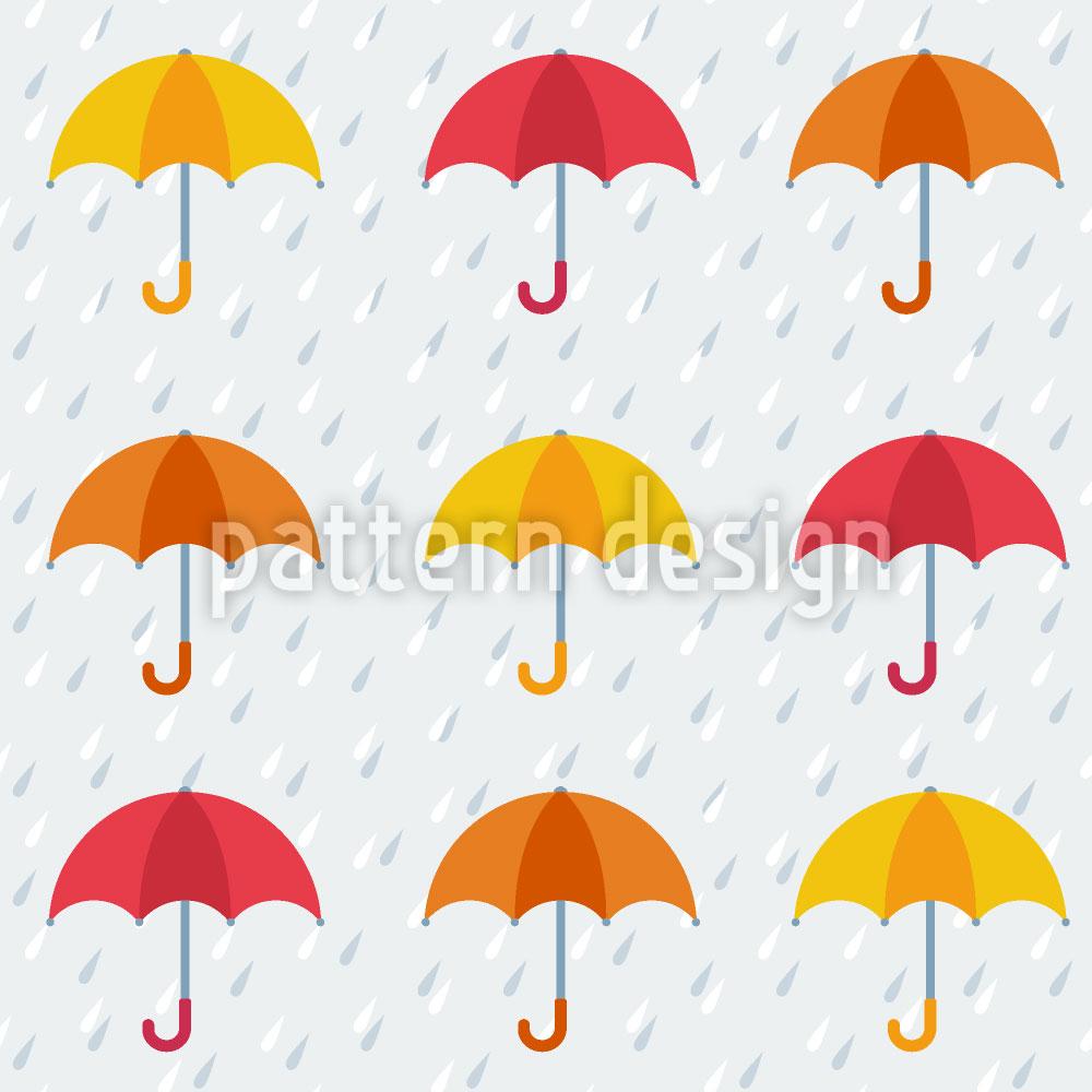 Designtapete Les Parapluis