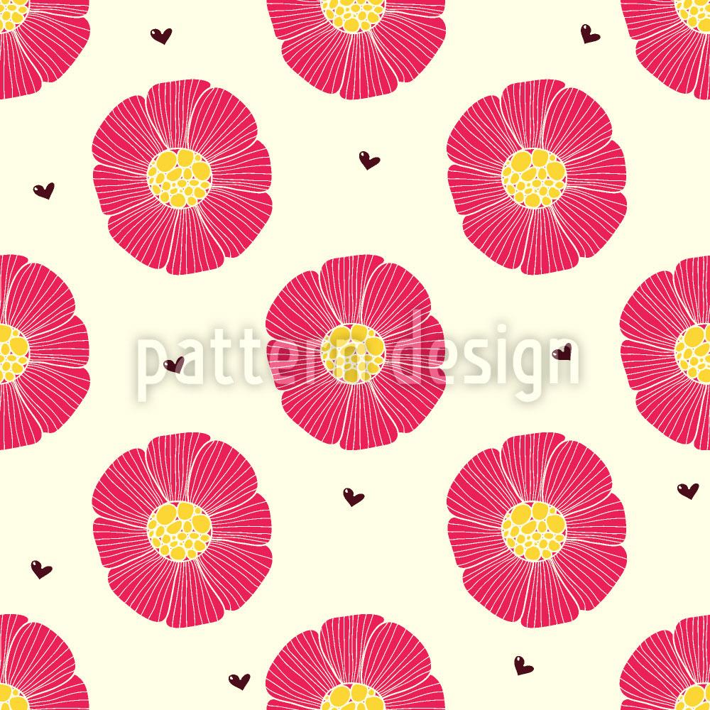 Designtapete Schokoherz Und Blume