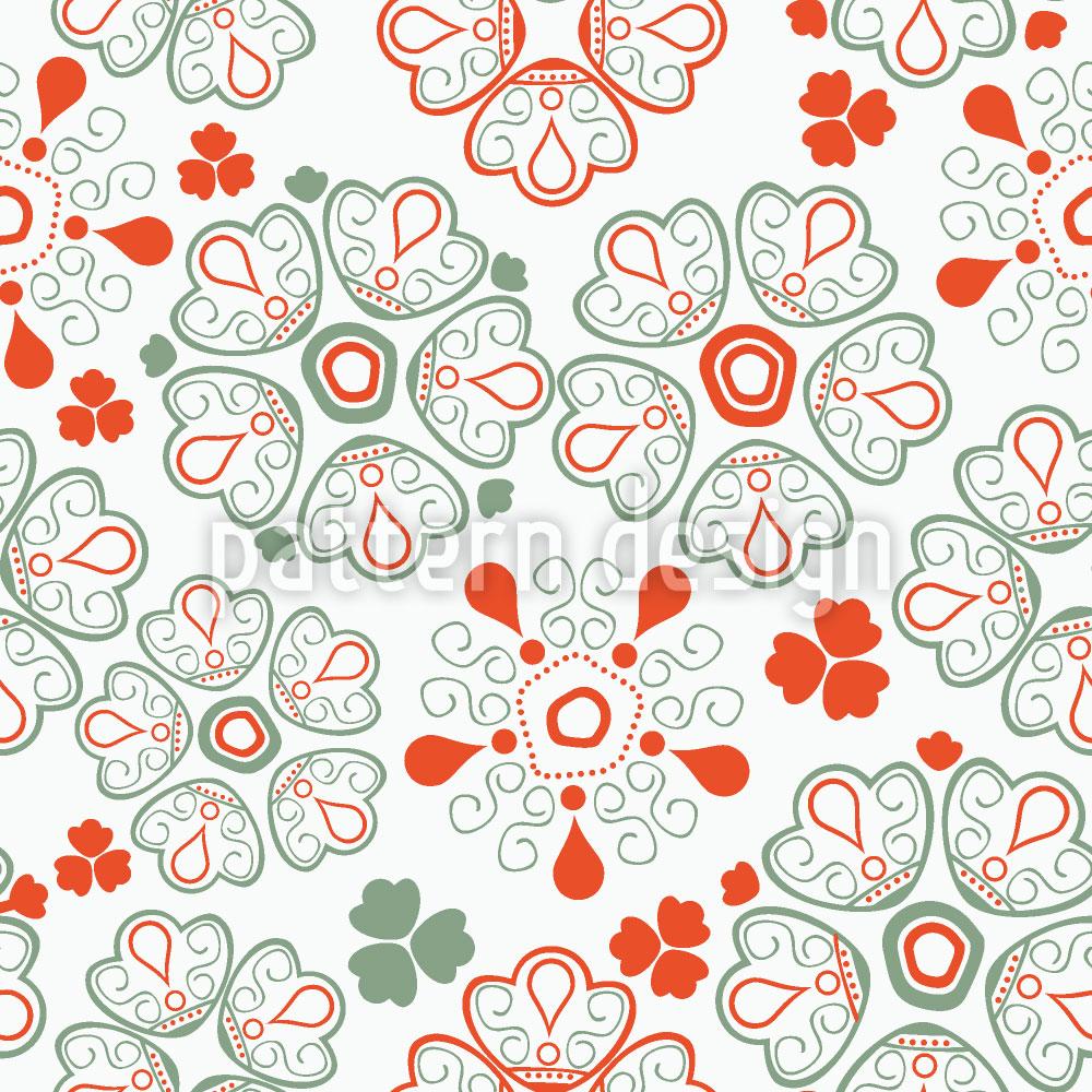 Designtapete Blumen Des Glücks