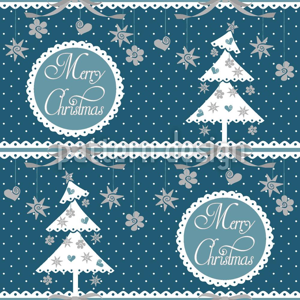 Designtapete Kalte Weihnachten