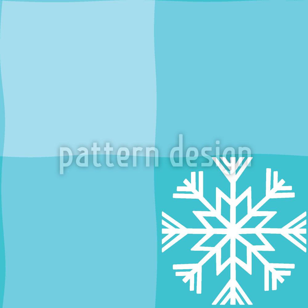 Designtapete Winter Tartan