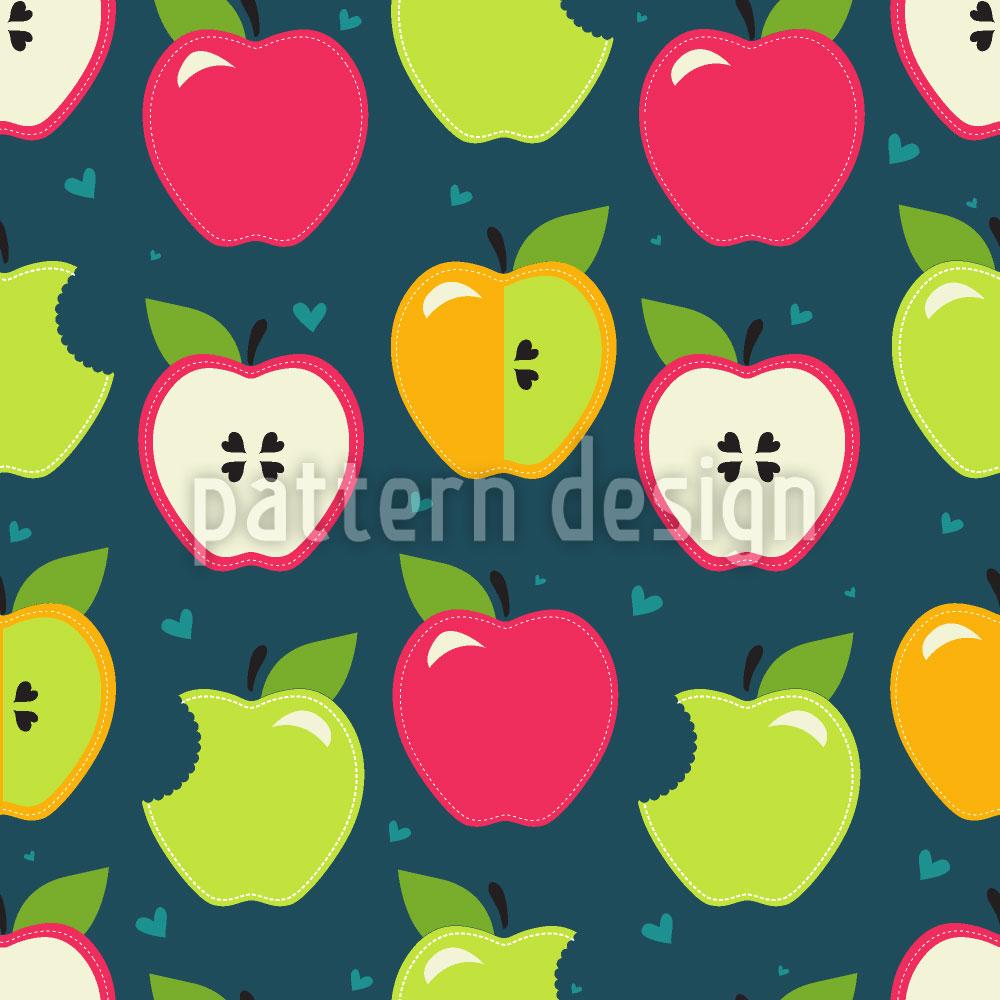 Designtapete Äpfel Zum Anbeissen
