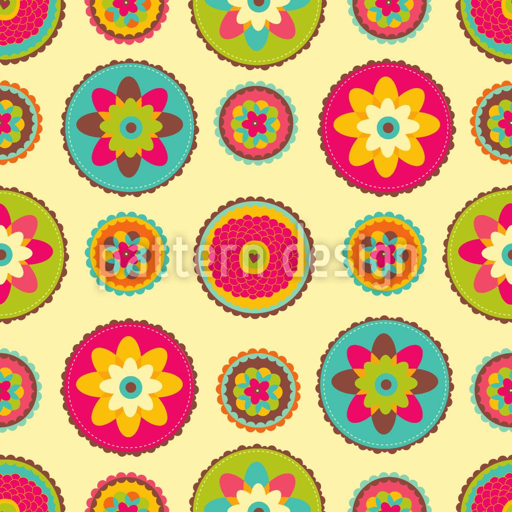 Designtapete Omis Blumen Deckchen