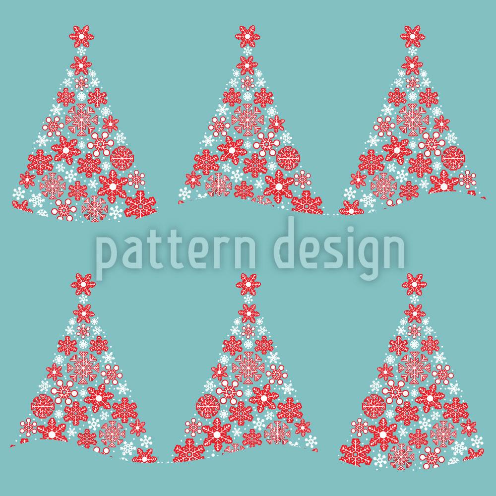 Designtapete Weihnachtswald