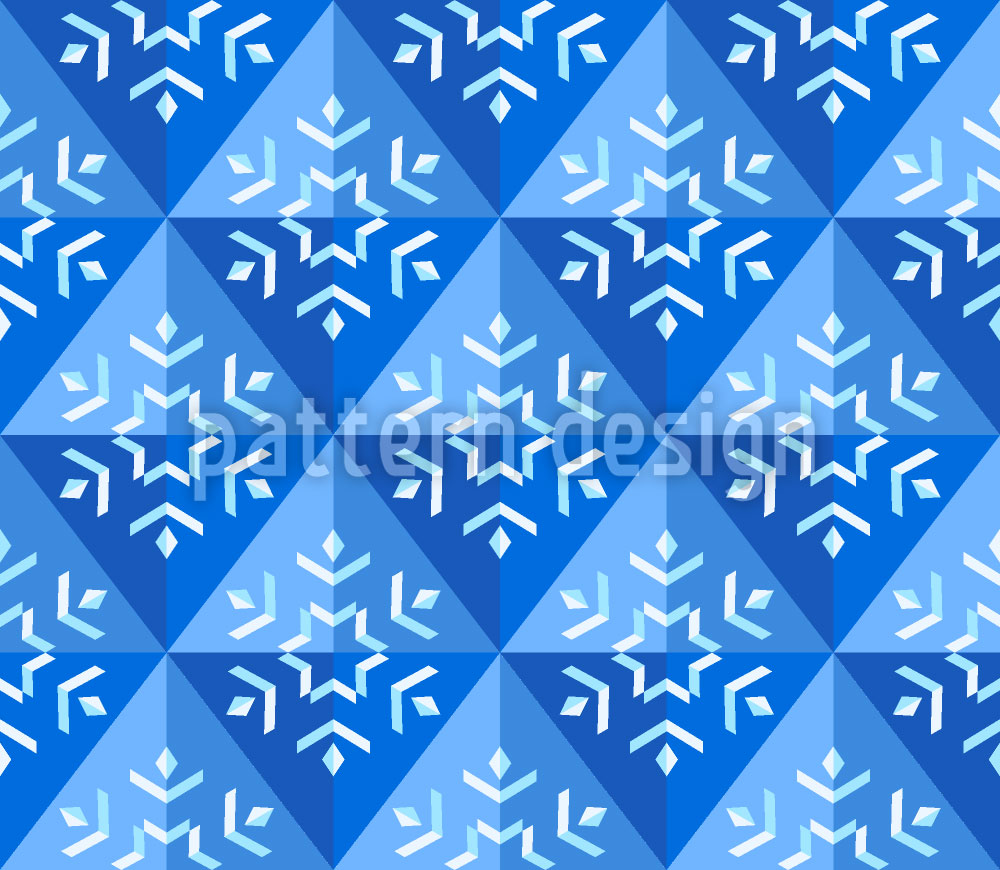 Designtapete Winter Geometrie